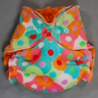 SALE! Small (Big Nb) Fleece Wrap Cover ~ Bright Circles ~ 25% off!