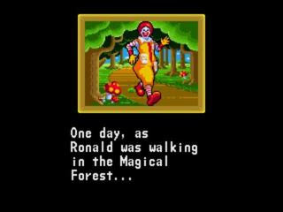 One day as Ronald was taking a walk in the Magical Forest...