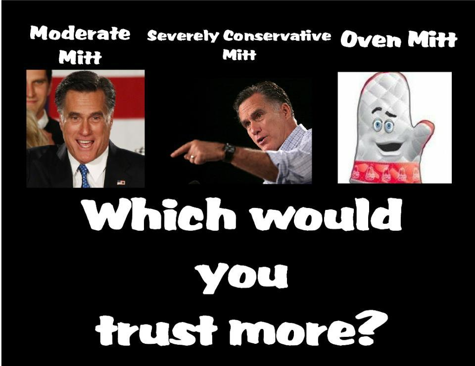 Which Mitt Would You Trust More?
